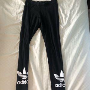 Adidas Leggings, Black with logo, Size S